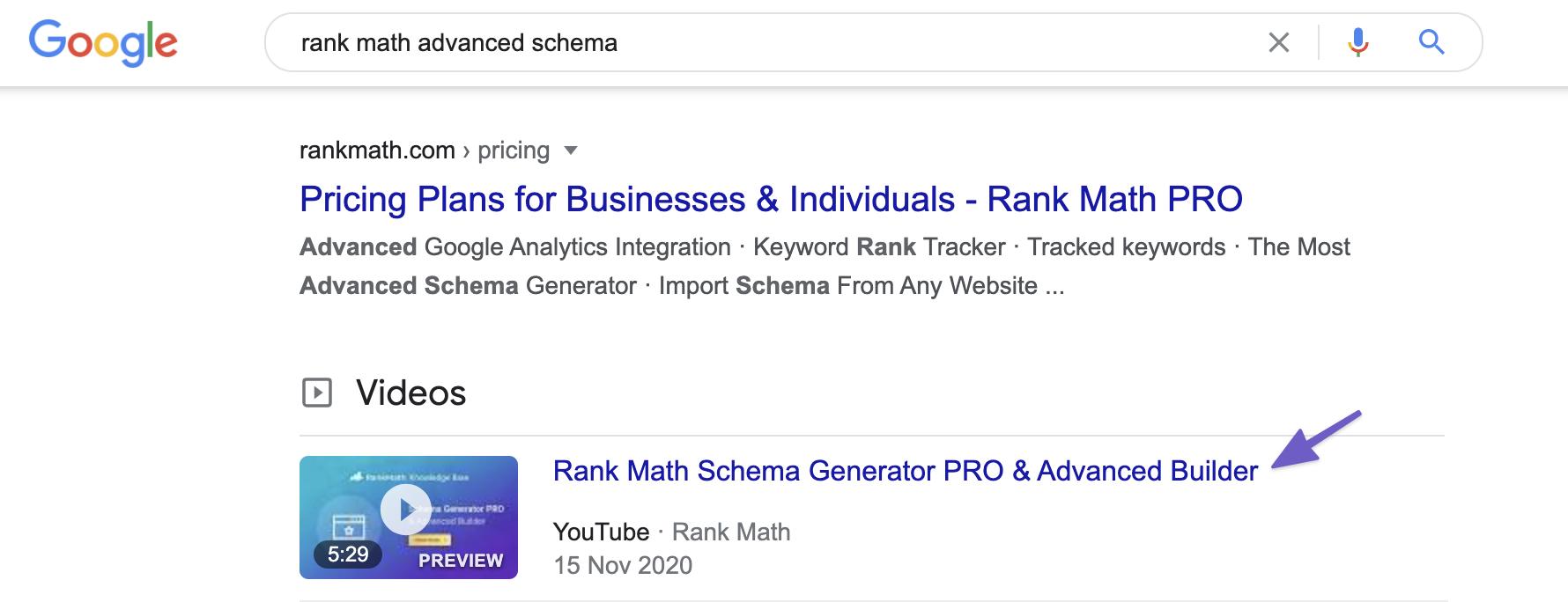 Video Schema Example Rank Math