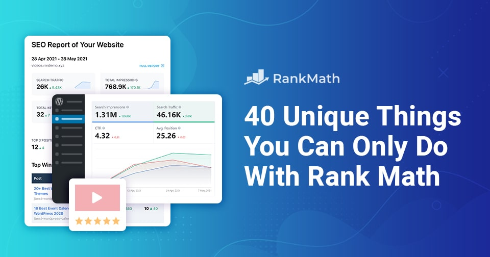 40 Unique Things You Can Only Do With Rank Math SEO