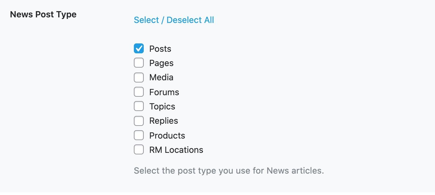 News Post Type