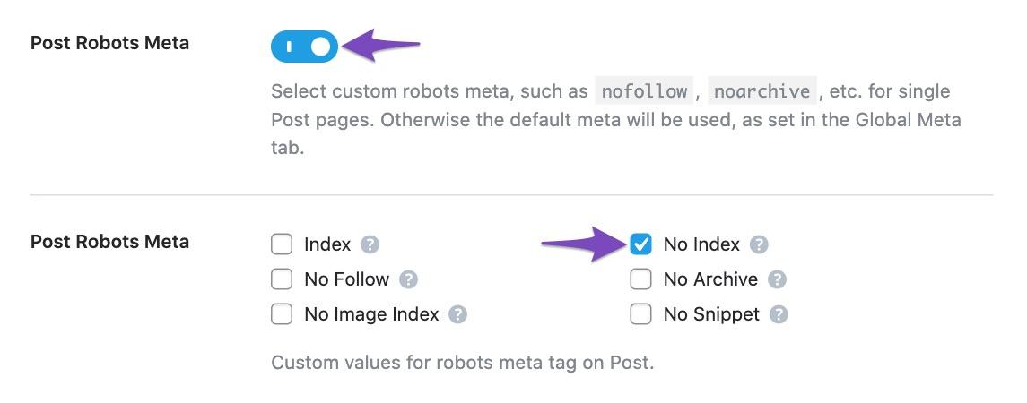 No index entire post type