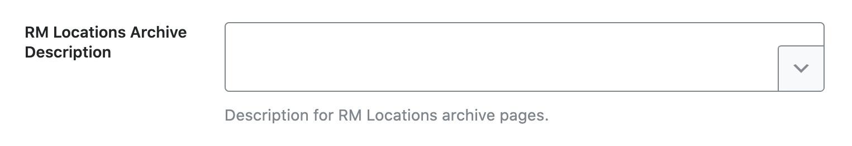 RM Locations archive description