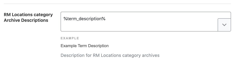 RM Locations category archive descriptions