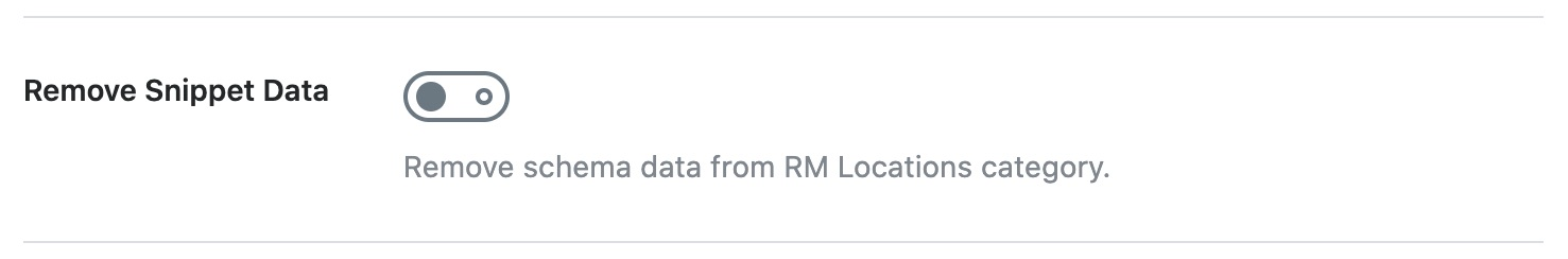 Remove snippet data from RM Locations category