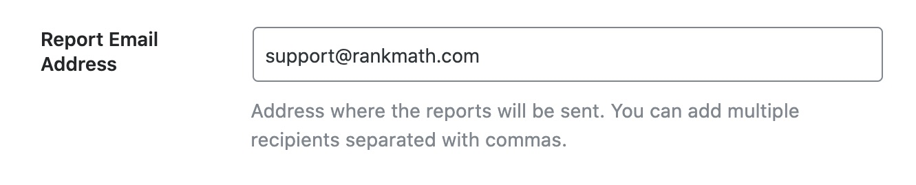 Report Email Address