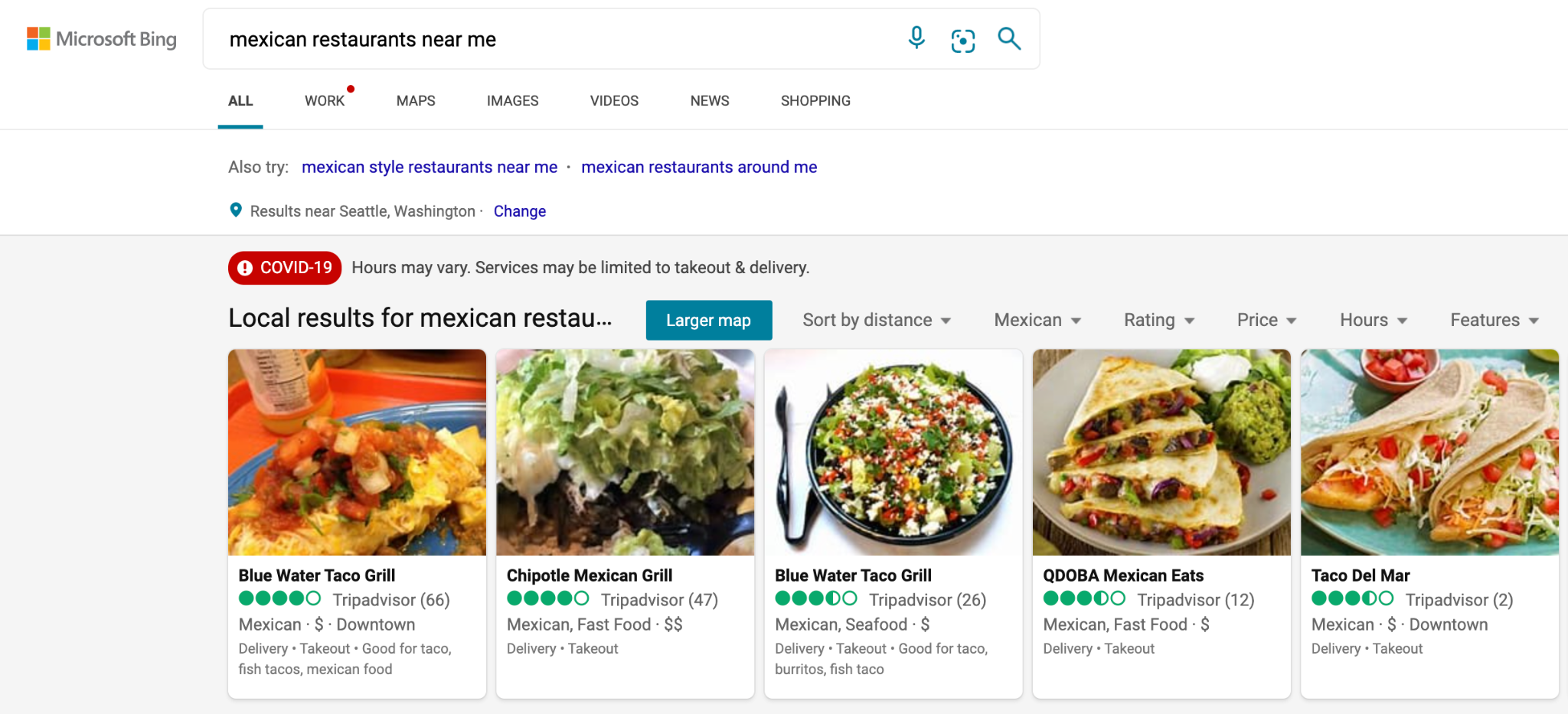 Bing Places Example