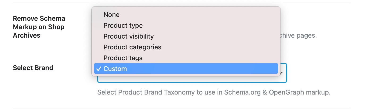 WooCommerce Custom Brands