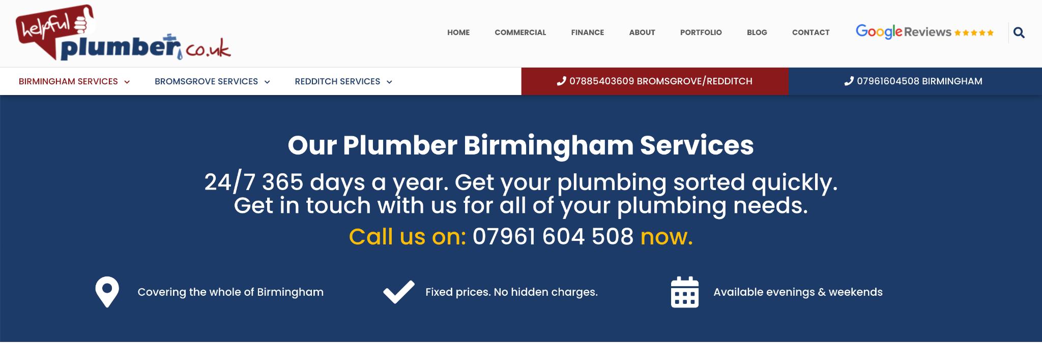 Birmingham Local Landing Page Example