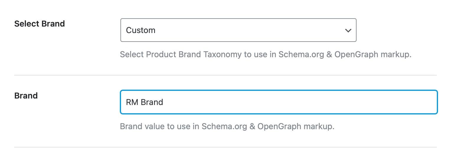 Custom Brand Example