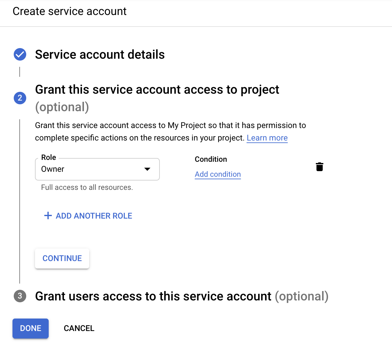Set Service Account Permissions To Owner