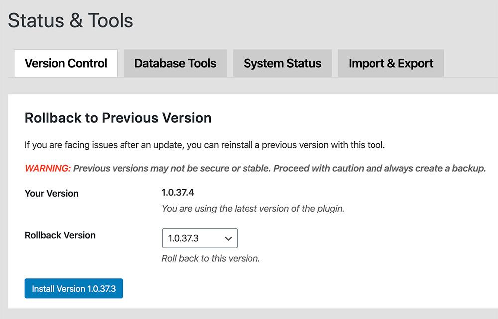 Status & Tools