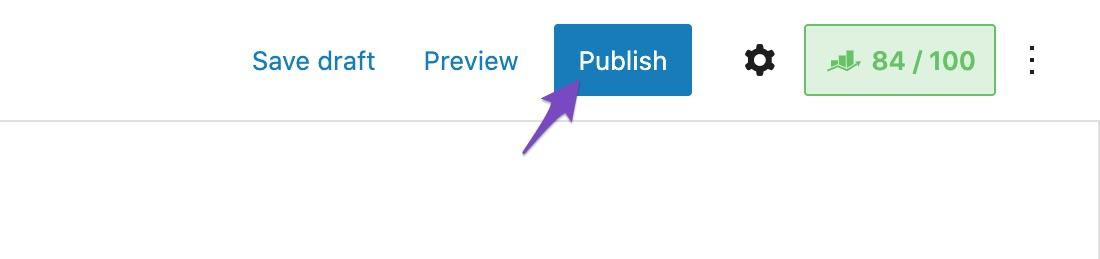 Click Publish button