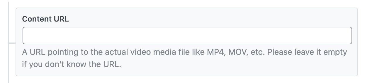Content URL - Video Schema