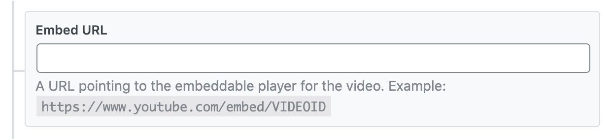 Embed URL - Video Schema