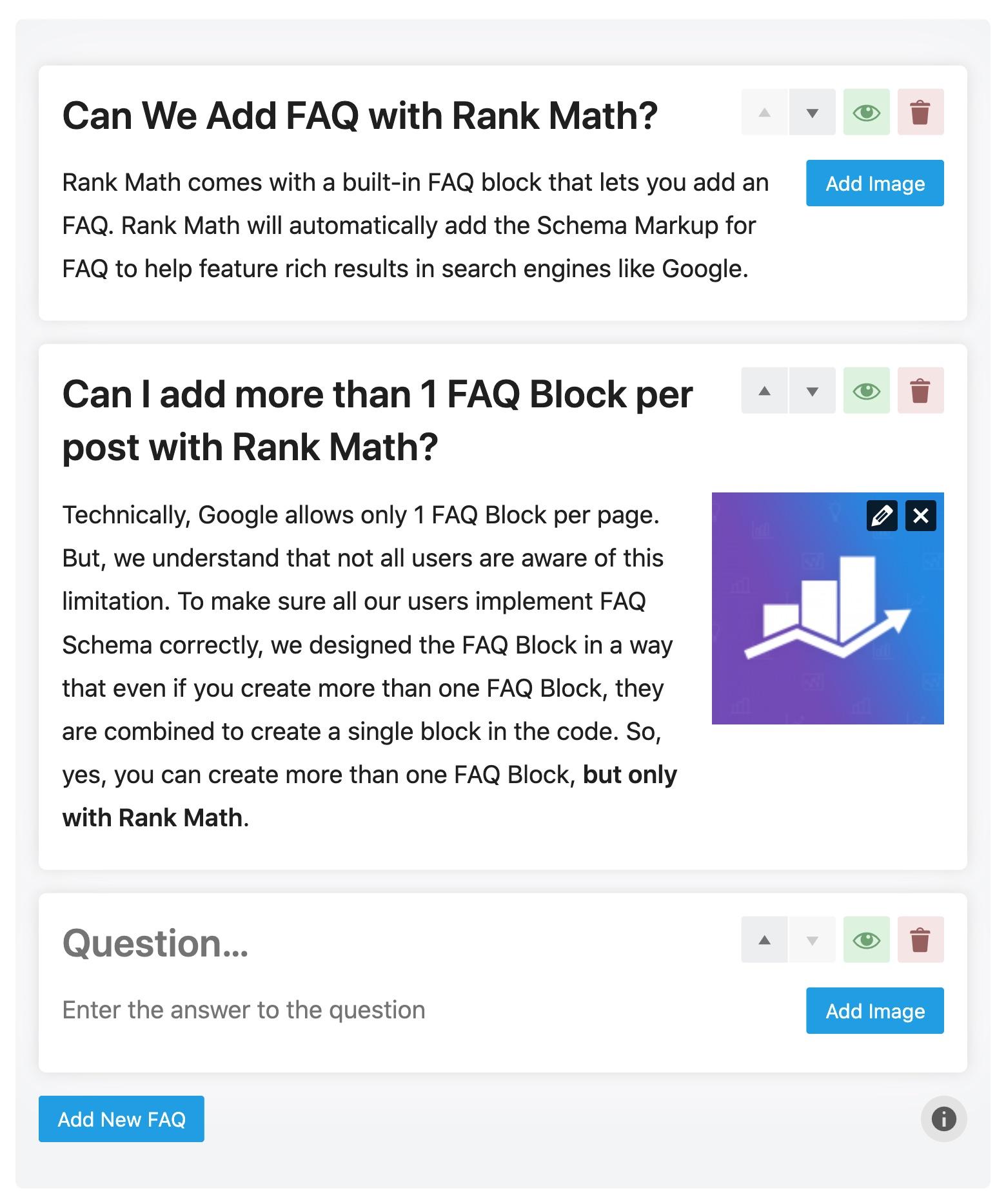 Rank Math FAQ block example