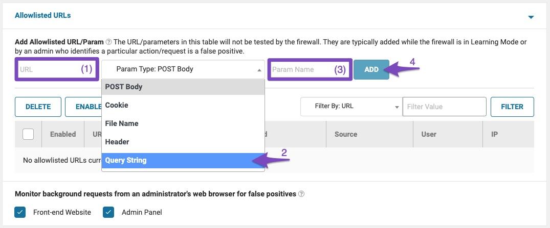 Configuring Allowlisted URLs