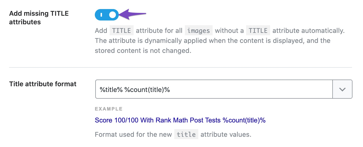 Enable add missing Title attributes