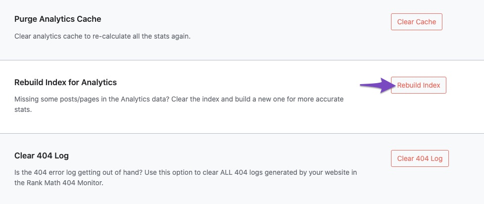 Rebuild Index for Analytics