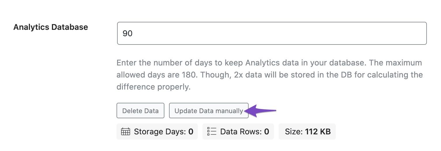 Update Data manually