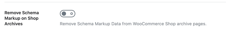 Remove Schema Markup on Shop Archives